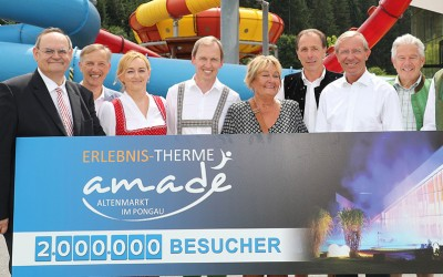 Therme Amadé begrüßte zweimillionsten Badegast