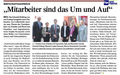 Pressebericht Tips Familienmisterin Karmasin bei Schmidt