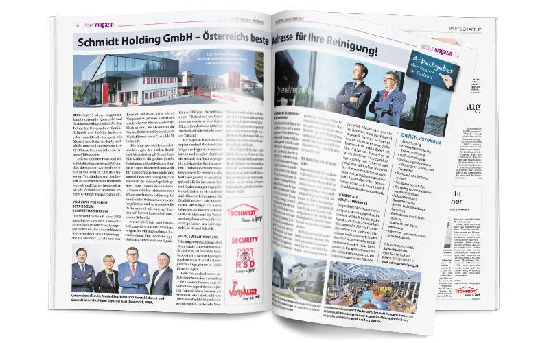 Schmidt Holding GmbHPresseberichtwichtiger Arbeitgeberim Portrait