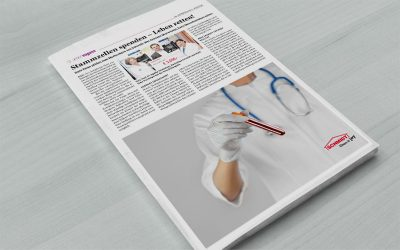 Pressebericht StammzellenspendeScheckübergabe im AKH Wien