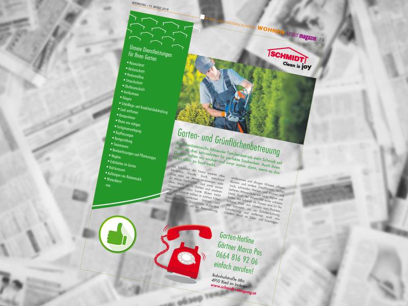"""professionelle Grünpflege PR """"unser Magazin"""""""