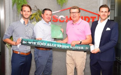 Schmidt verlängert sein Engagement als Sponsor mit SV Ried