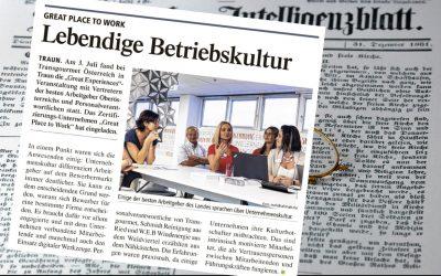 GREAT PLACE TO WORKPressebericht der Tagung bei Transgourmet