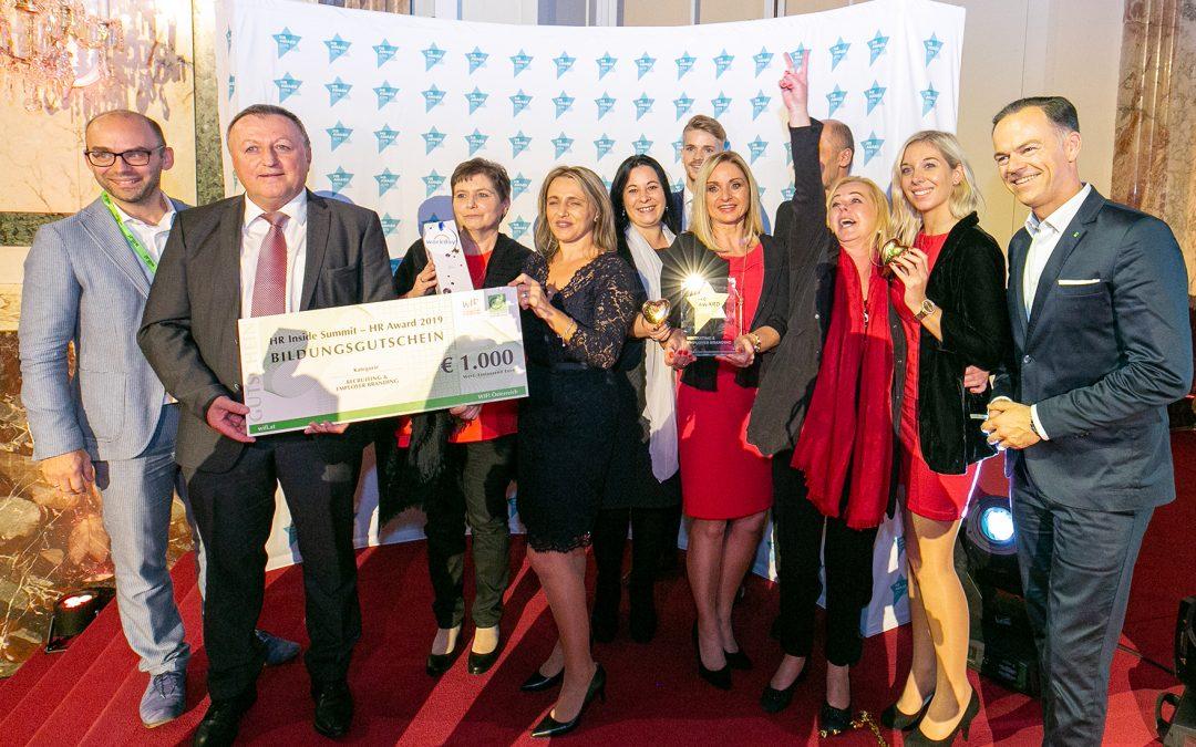 """Österreichischer HR Award in Gold für """"Wertschätzung"""" bei Schmidt GmbH"""