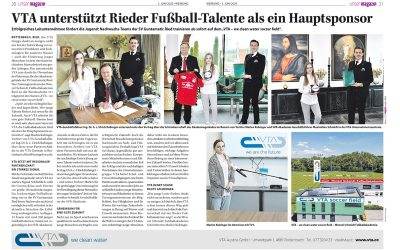 Maximilian E. Schmidtgewinnt VTA als erfolgreichen Partnerfür Rieder Fußballakademie