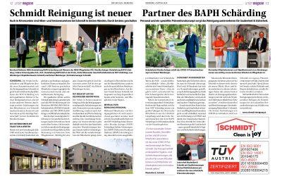Schmidt Reinigung ist neuer Partner des BAPH Schärding