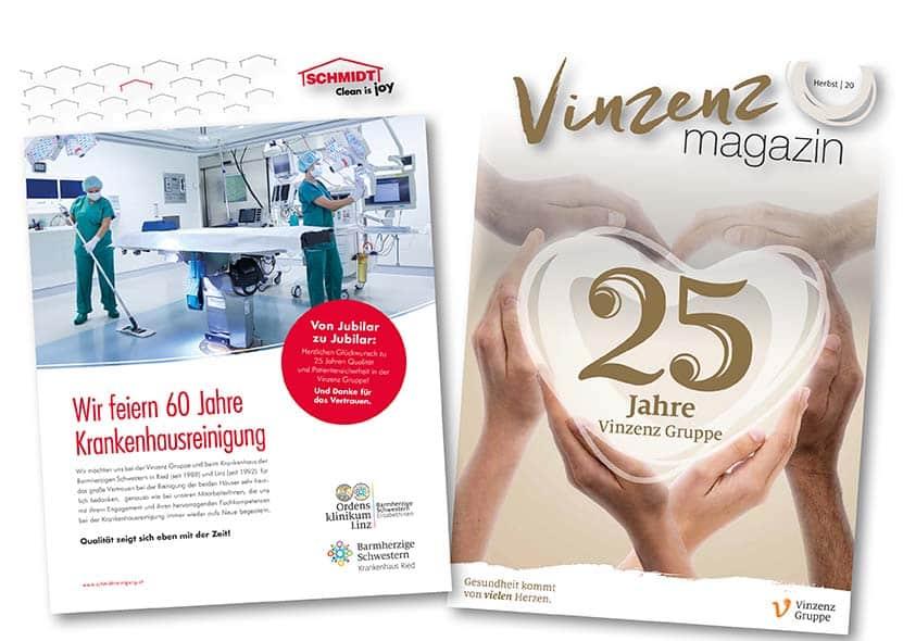 25 Jahre Vinzenz Gruppe60 Jahre Schmidt Krankenhausreinigung