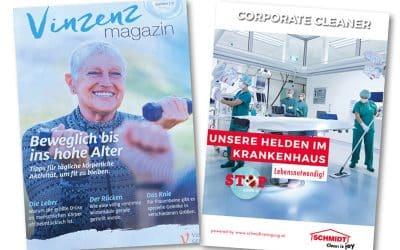 Schmidt mit einer neuen Anzeige im Vinzenz Magazin Ausgabe Sommer 2021