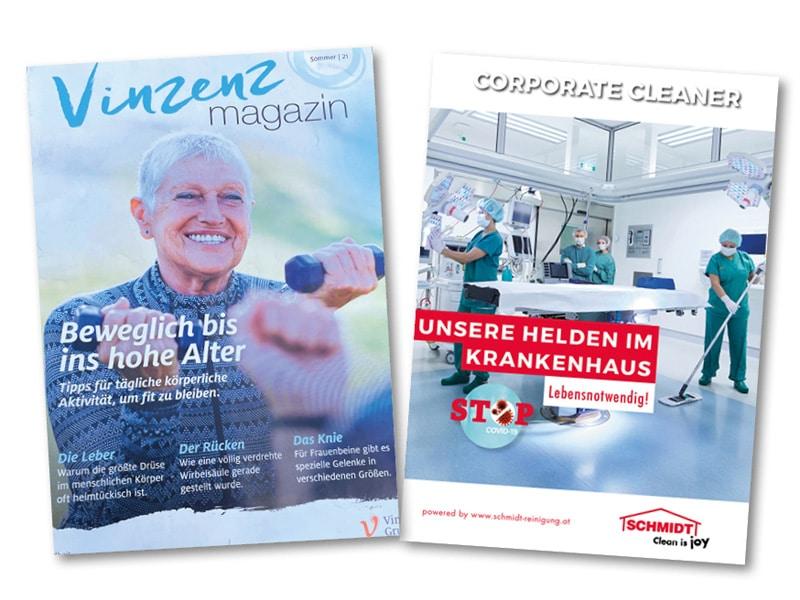 Schmidt im neuen Vinzenz MagazinSauberkeit ist Patientensicherheit
