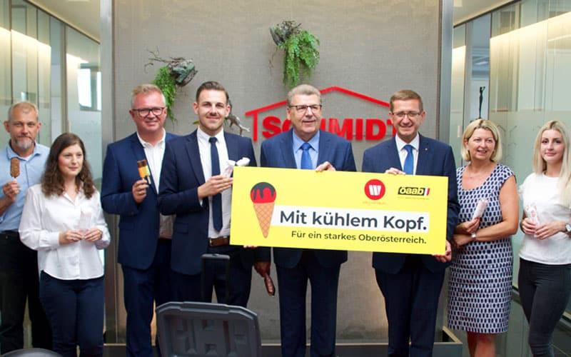 Hohe Politik zu Besuch in der Zentrale der Schmidt Holding