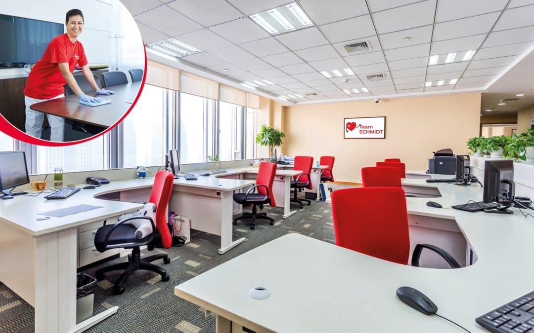 Perfekte Sauberkeit in Büros sind in Zeiten von COVID-19 wichtiger den je